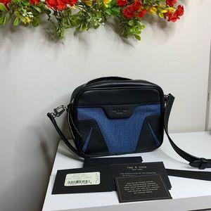 Rag & Bone Denim Mini Flight Camera Bag